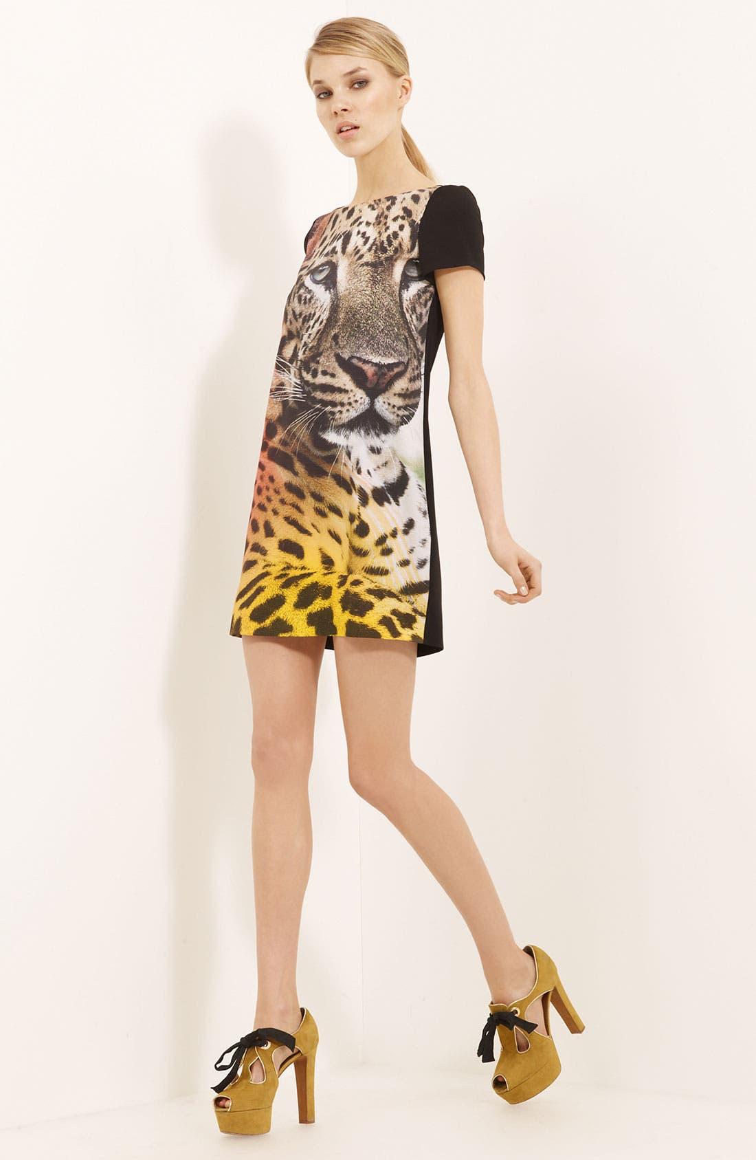 Main Image - Moschino Cheap & Chic Cheetah Print Crepe Dress