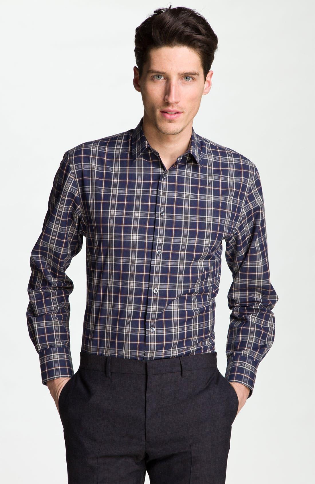 Alternate Image 1 Selected - PS Paul Smith Windowpane Check Dress Shirt
