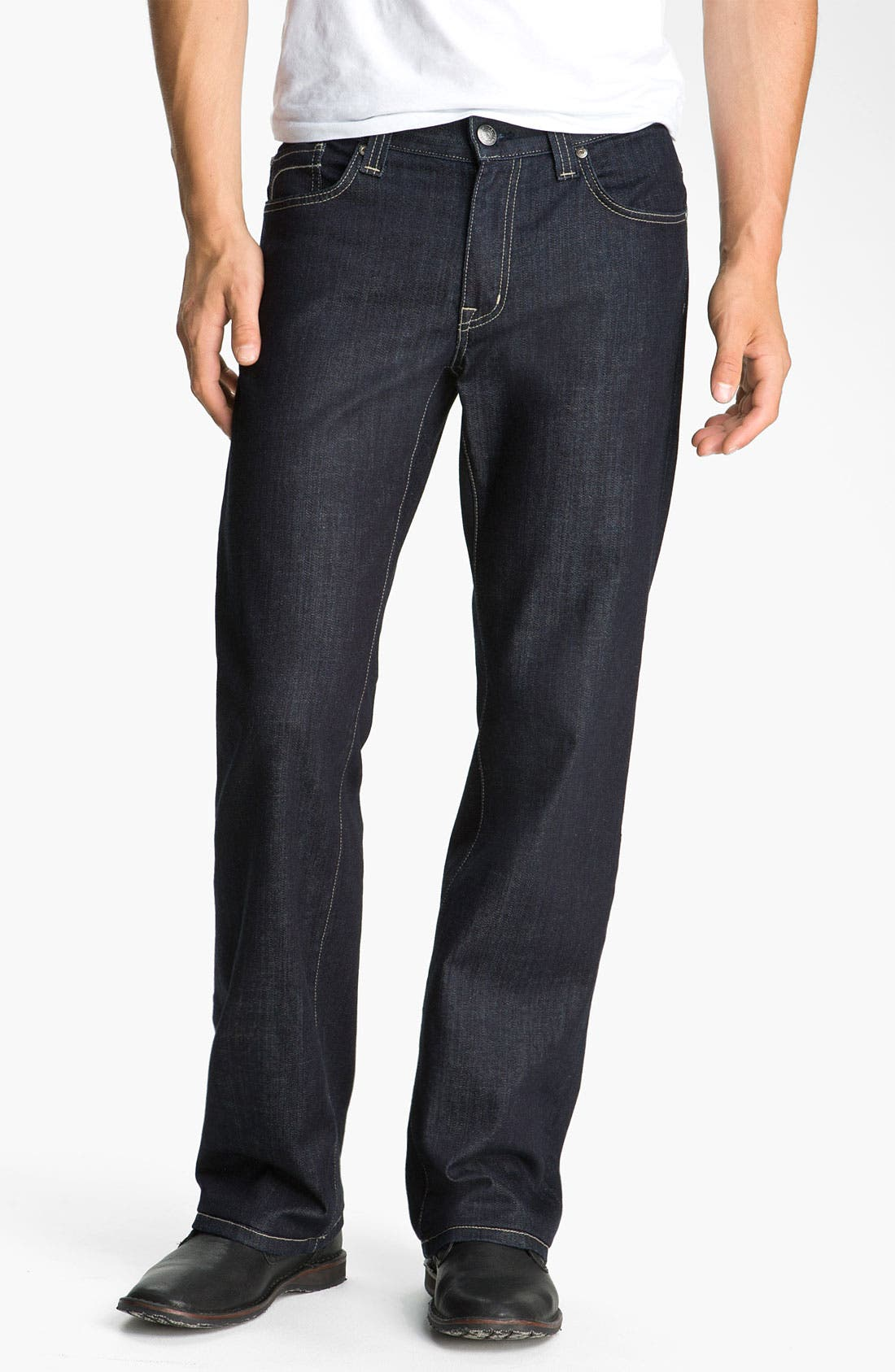 Alternate Image 1 Selected - Fidelity Denim 'Camino' Relaxed Leg Jeans (Pacific Dark)