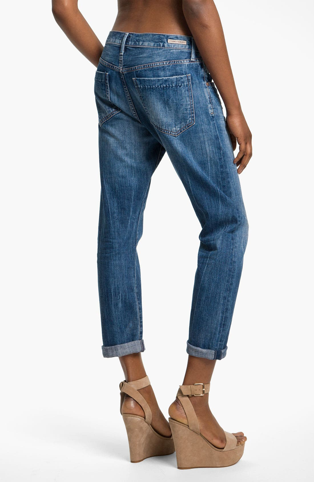 Alternate Image 2  - Citizens of Humanity 'Daisy' Crop Loose Fit Jeans (Plunge)