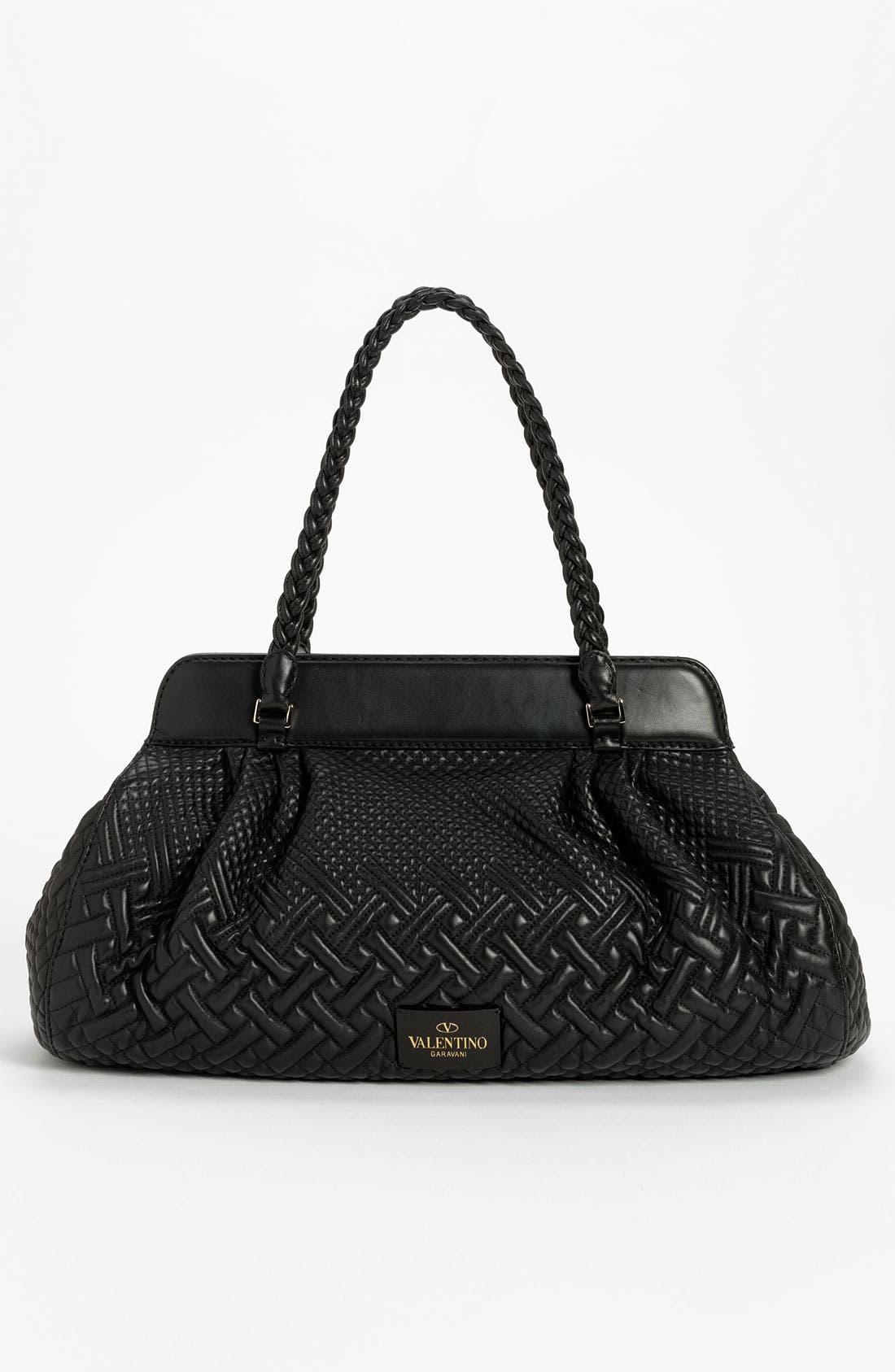 Alternate Image 4  - Valentino 'Demetra' Leather Shoulder Bag