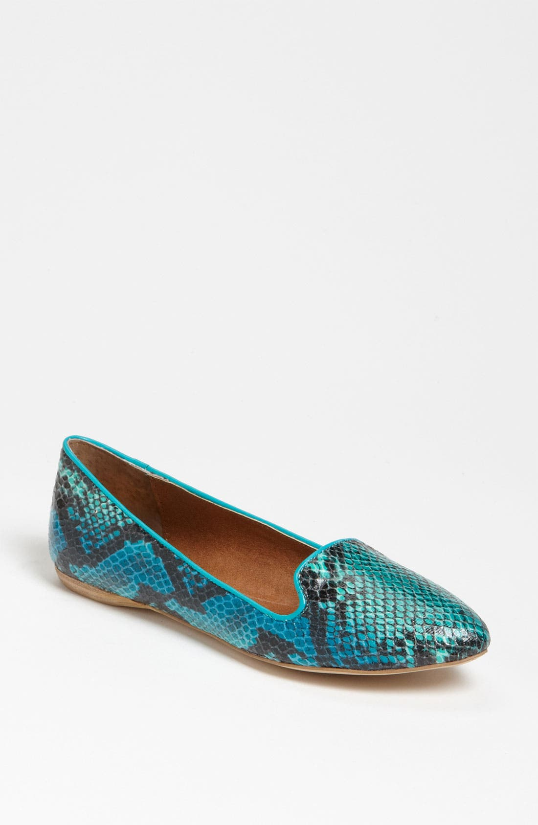 DV by Dolce Vita 'Lissa' Flat,                             Main thumbnail 1, color,                             Teal Snake