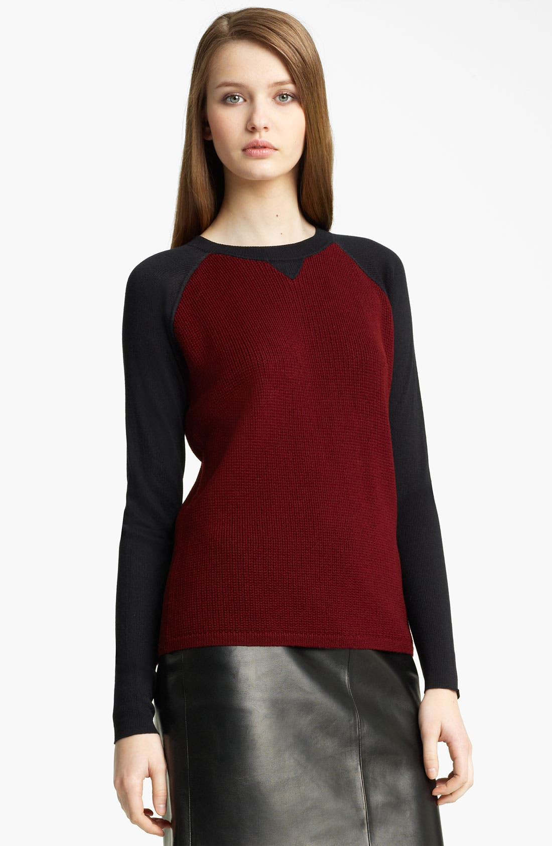Alternate Image 1 Selected - Reed Krakoff Merino Wool Thermal Pullover