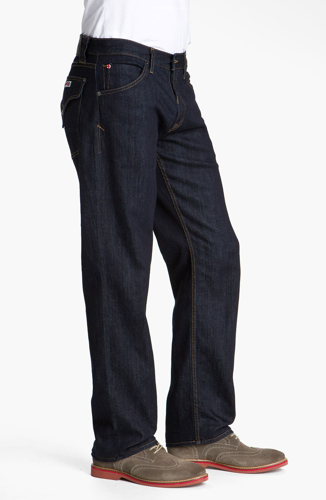 Alternate Image 3  - Hudson 'Barton' Relaxed Straight Leg Jeans (Athletics)