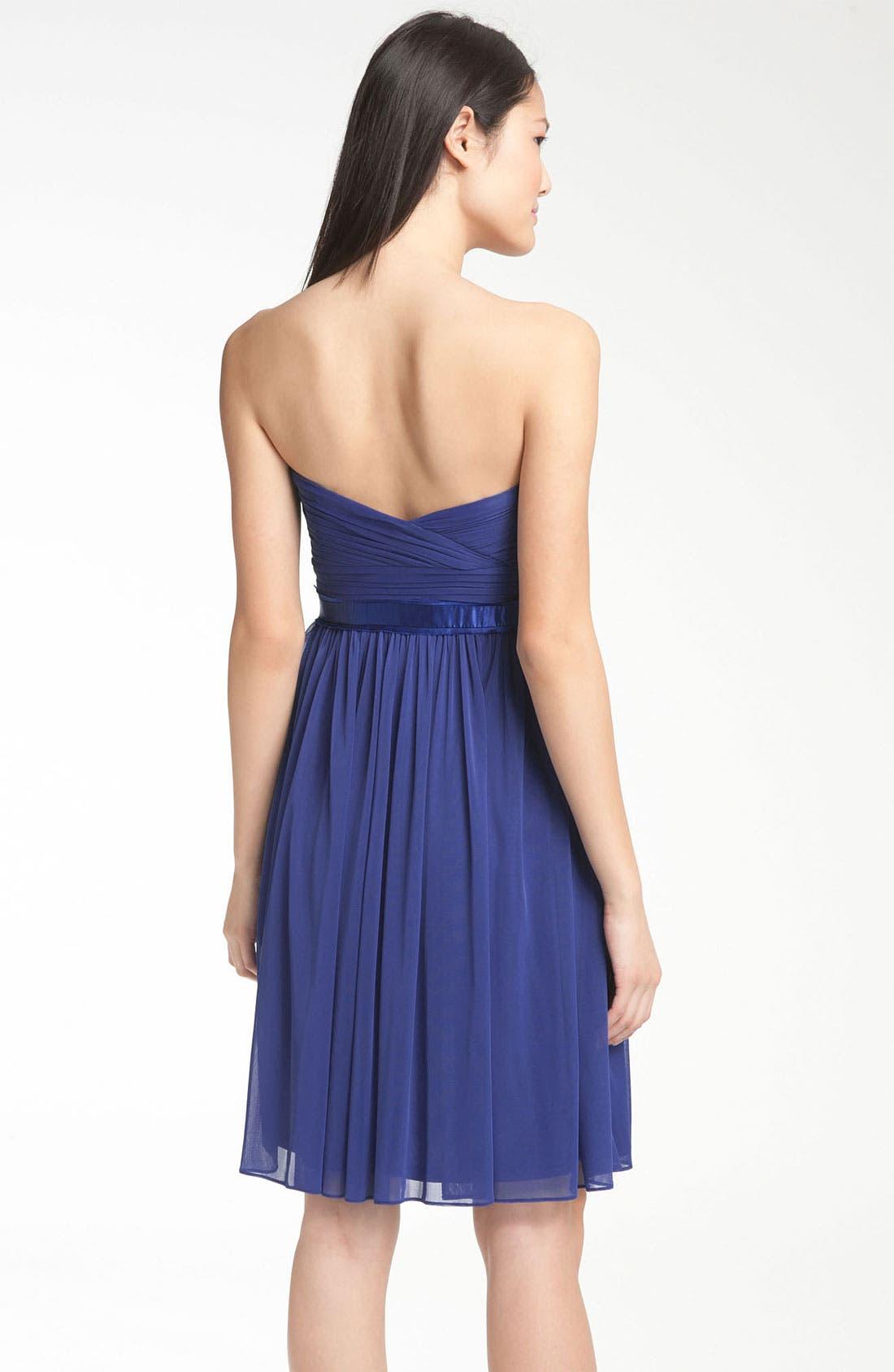 Alternate Image 2  - ML Monique Lhuillier Bridesmaids Sweetheart Chiffon Dress (Nordstrom Exclusive)