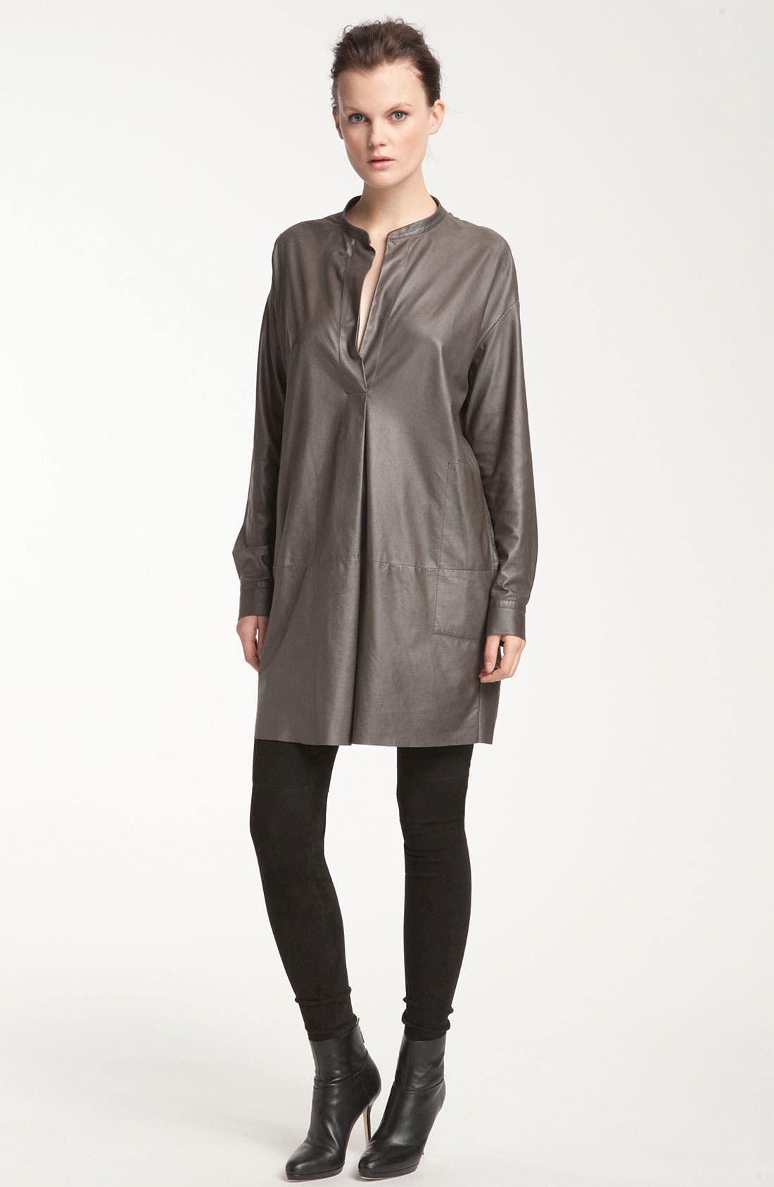Alternate Image 1 Selected - Vince Leather Tunic Dress