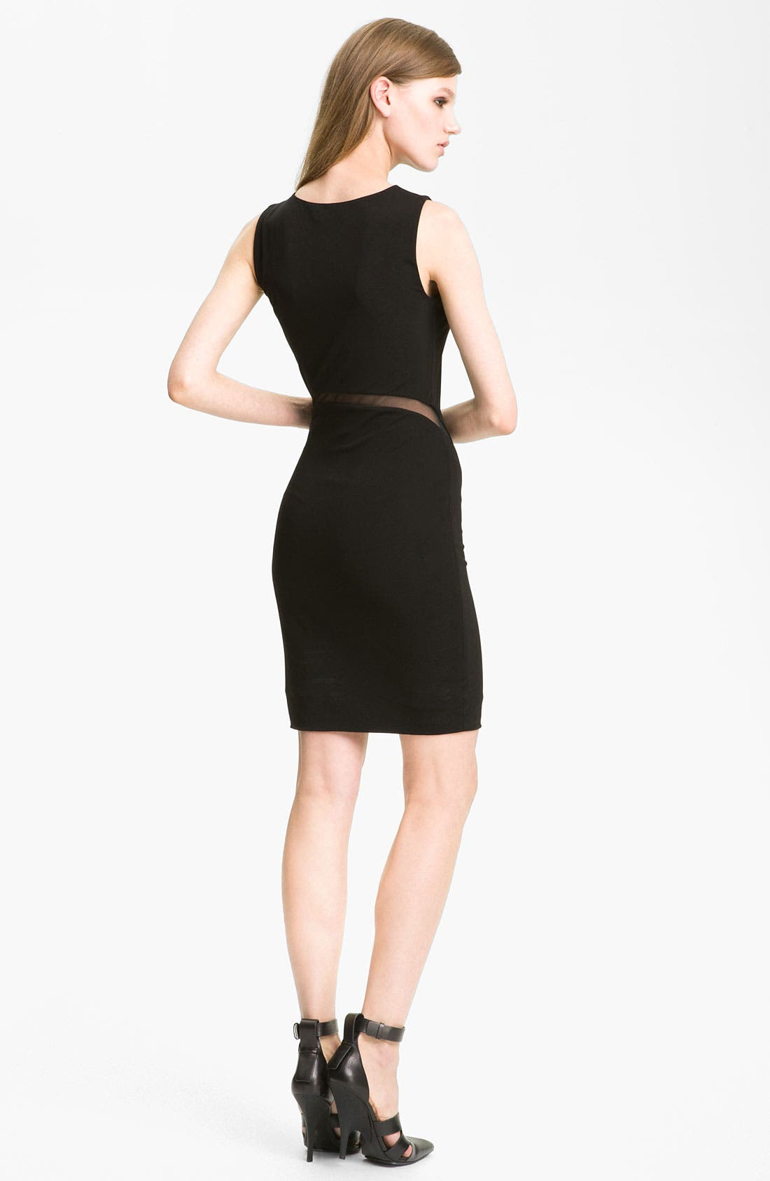Alternate Image 2  - T by Alexander Wang Mesh Inset Sheath Dress