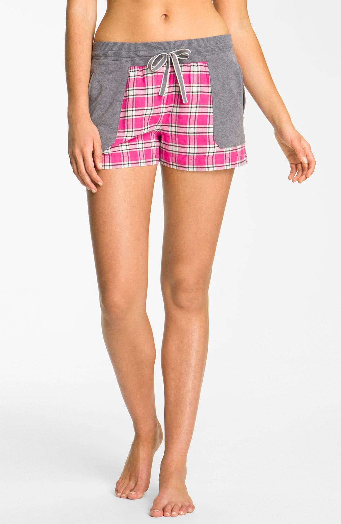 Main Image - DKNY 'Pattern Play' Flannel Boxer Shorts