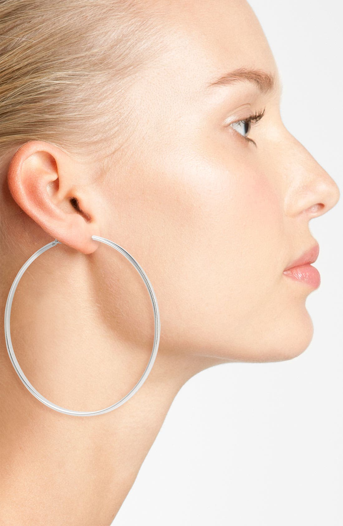 Alternate Image 2  - Natasha Couture Large Hoop Earrings