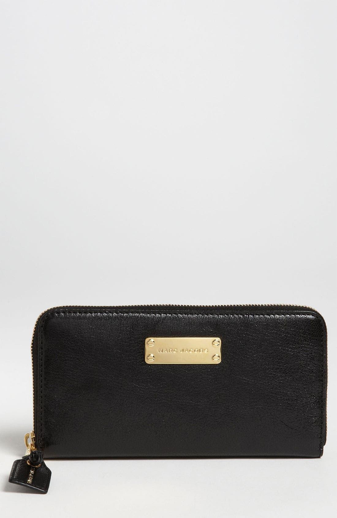 Main Image - MARC JACOBS 'Wellington Deluxe' Goatskin Wallet