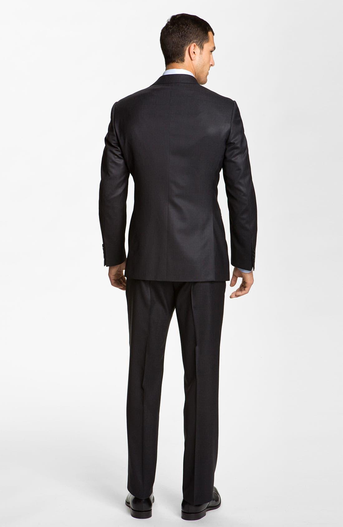 Alternate Image 3  - Armani Collezioni 'Giorgio' Trim Fit Wool Suit