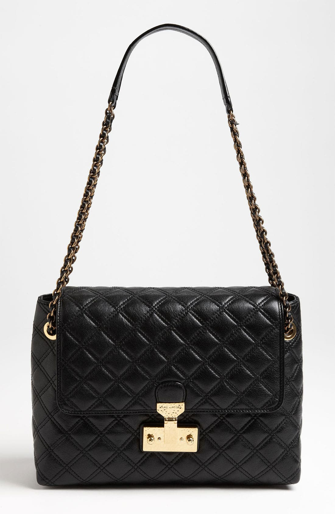 Main Image - MARC JACOBS 'Baroque XL Single' Leather Shoulder Bag