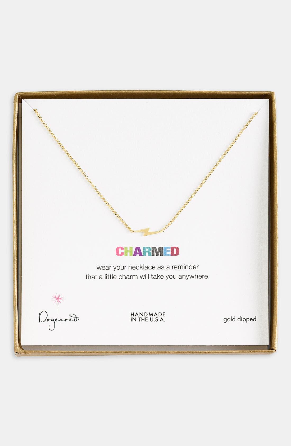 Alternate Image 1 Selected - Dogeared 'Charmed - Bolt' Pendant Necklace