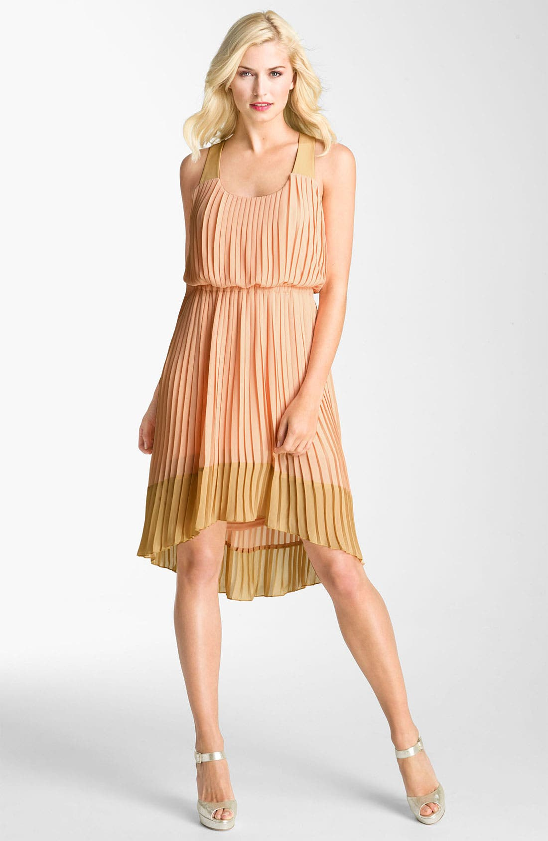 Alternate Image 1 Selected - Jessica Simpson Pleated Chiffon Dress