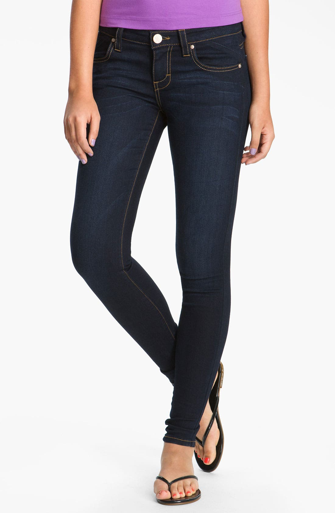 Alternate Image 1 Selected - STS Blue Skinny Jeans (Brisbane Dark) (Juniors) (Online Only)