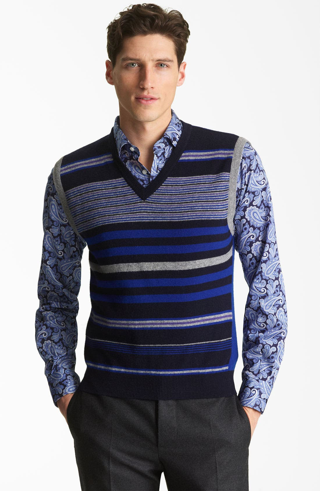 Alternate Image 1 Selected - Etro Stripe Sweater Vest
