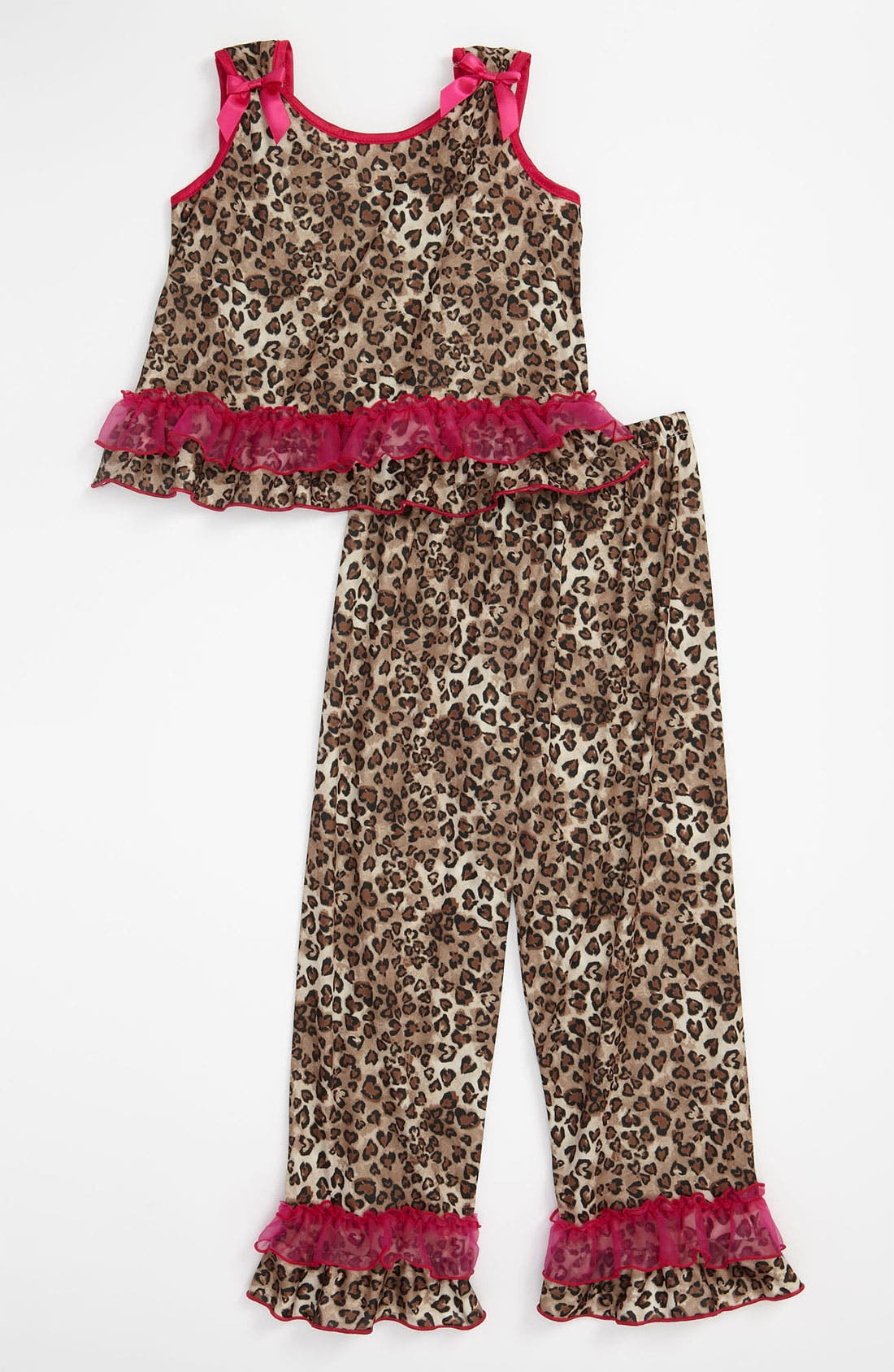 Alternate Image 1 Selected - Laura Dare Animal Print Pajamas (Little Girls)