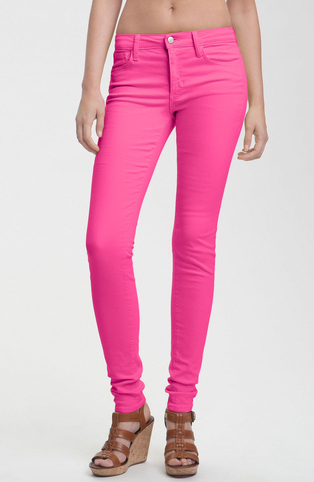 Alternate Image 1 Selected - Joe's Skinny Stretch Jeans (Pink Glo)