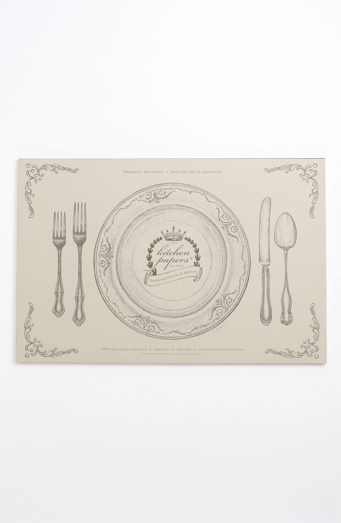 Alternate Image 1 Selected - Kitchen Papers by Cake 'Perfect Setting' Paper Placemat Pad