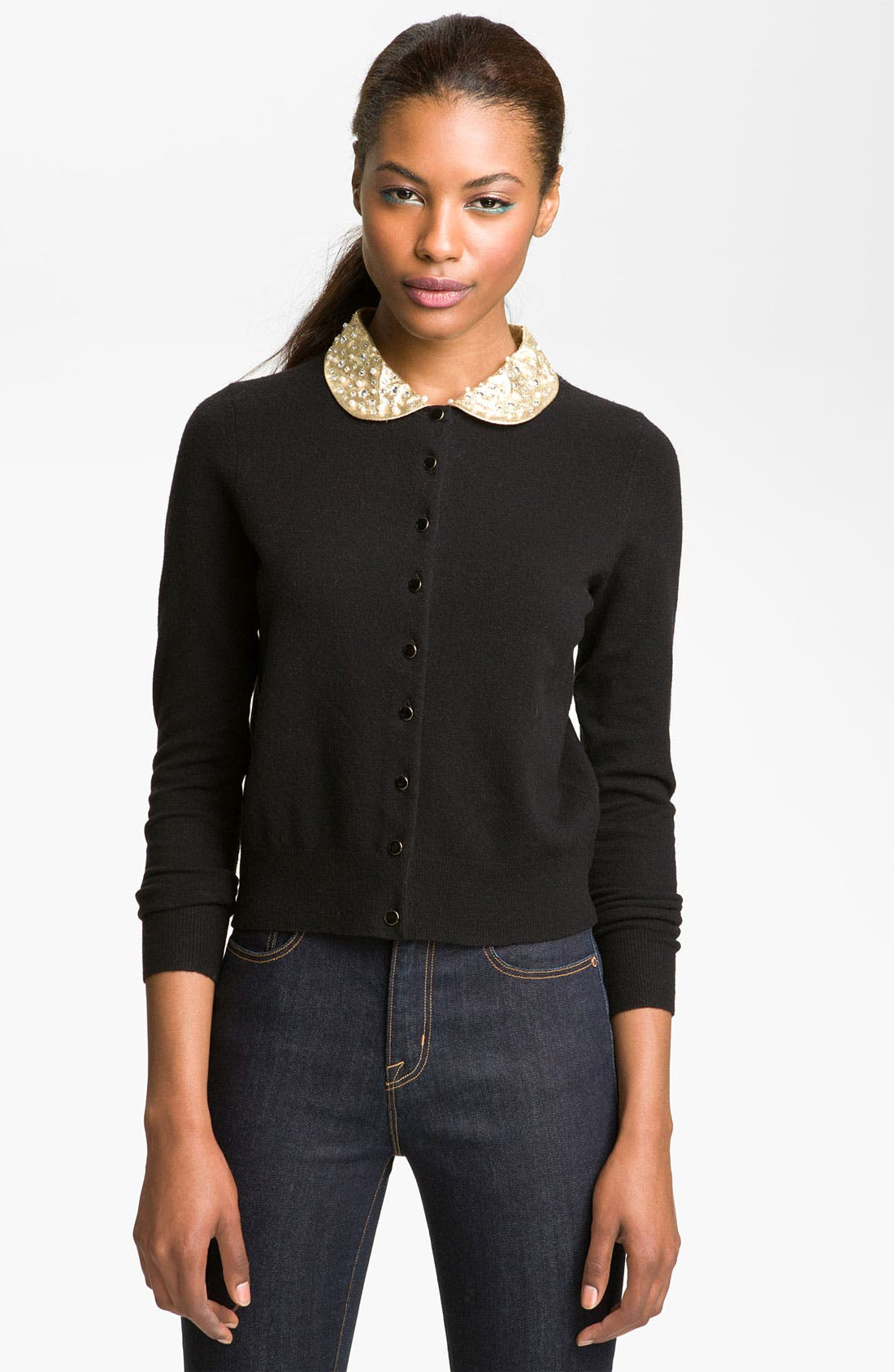 Alternate Image 1 Selected - MARC BY MARC JACOBS 'Mika' Embellished Collar Cardigan