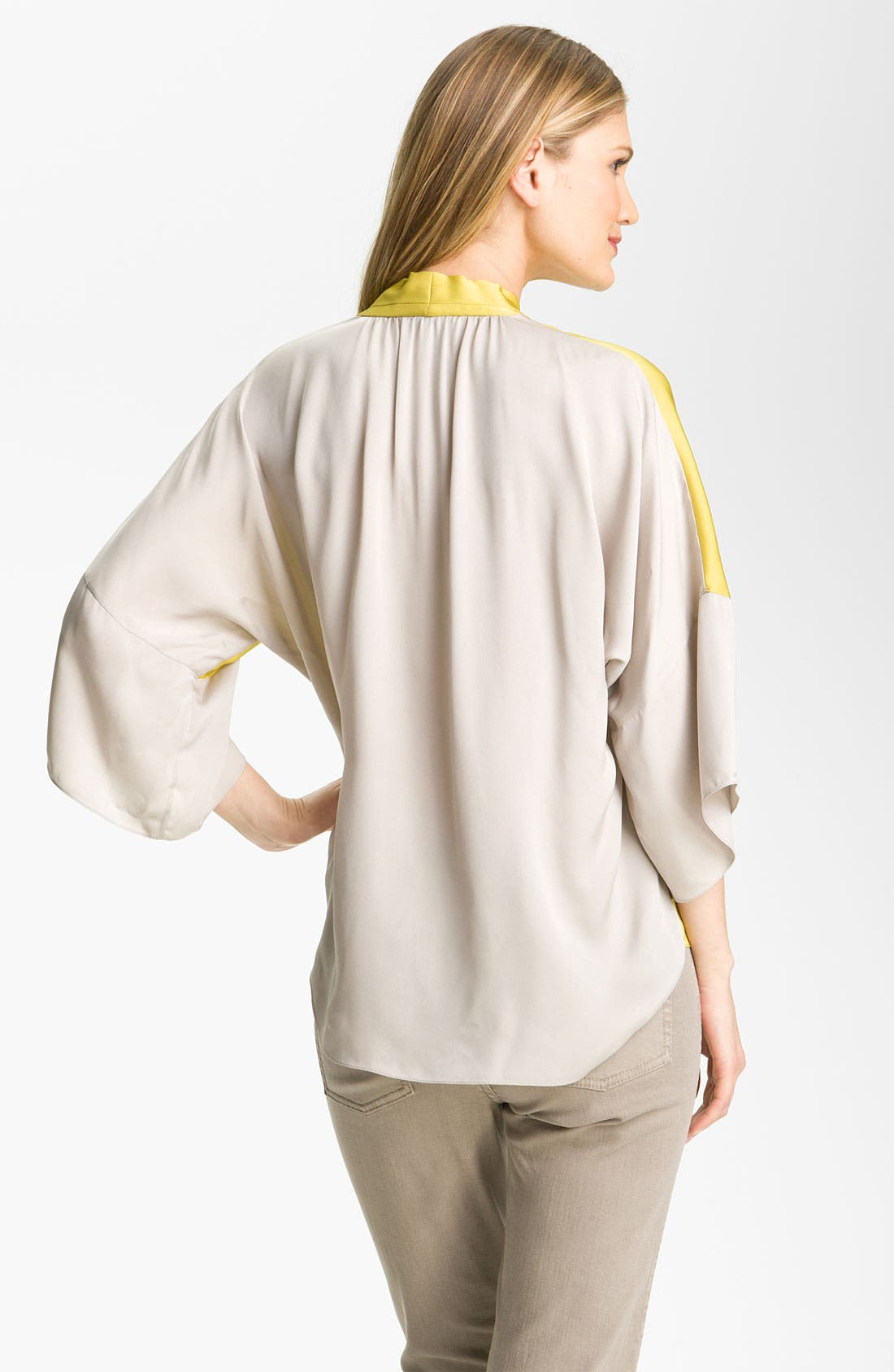Alternate Image 2  - Elie Tahari Exclusive for Nordstrom 'Sage' Silk Blouse