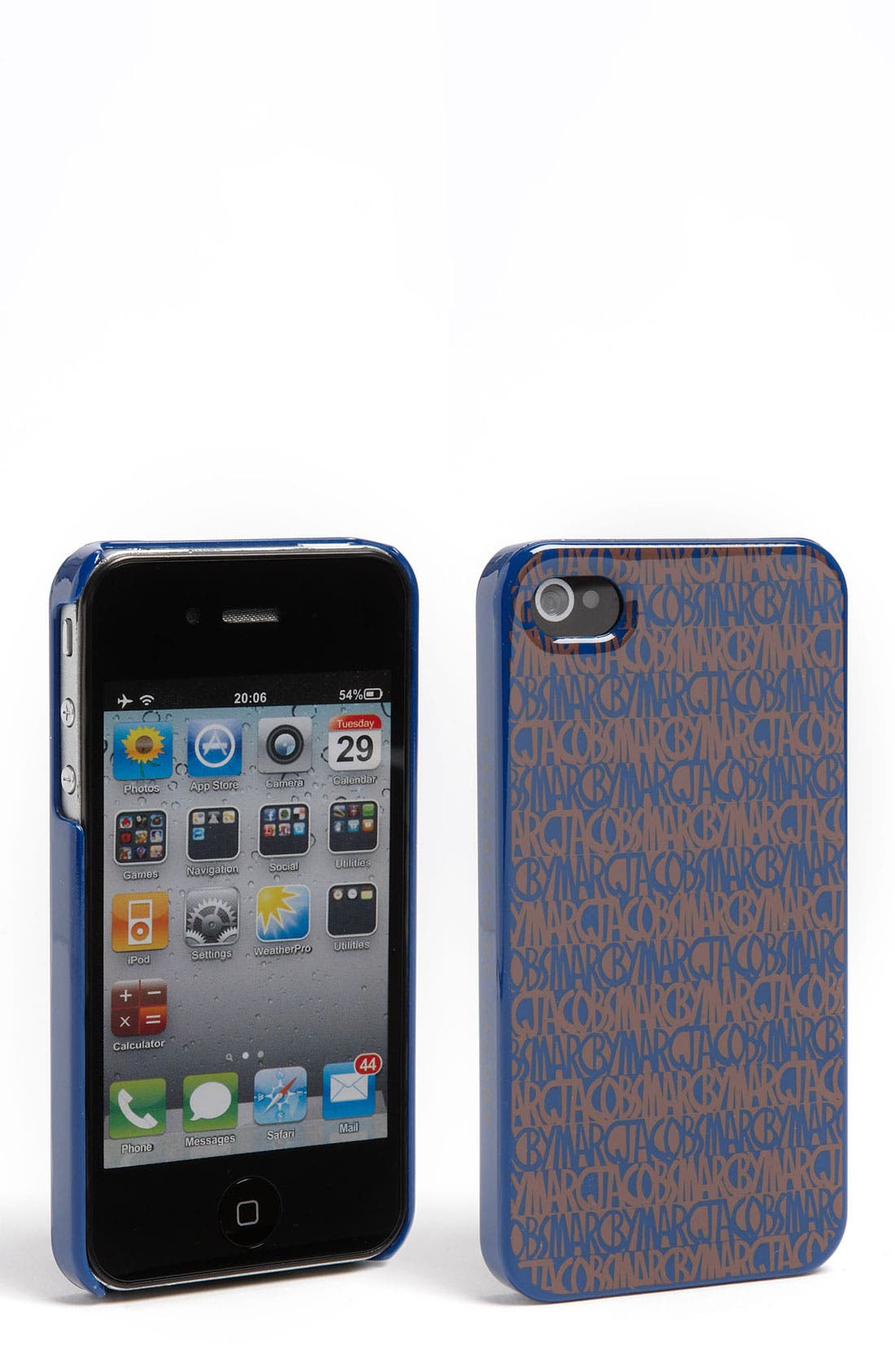 Alternate Image 1 Selected - MARC BY MARC JACOBS 'Linear Logo' iPhone 4 & 4S Case