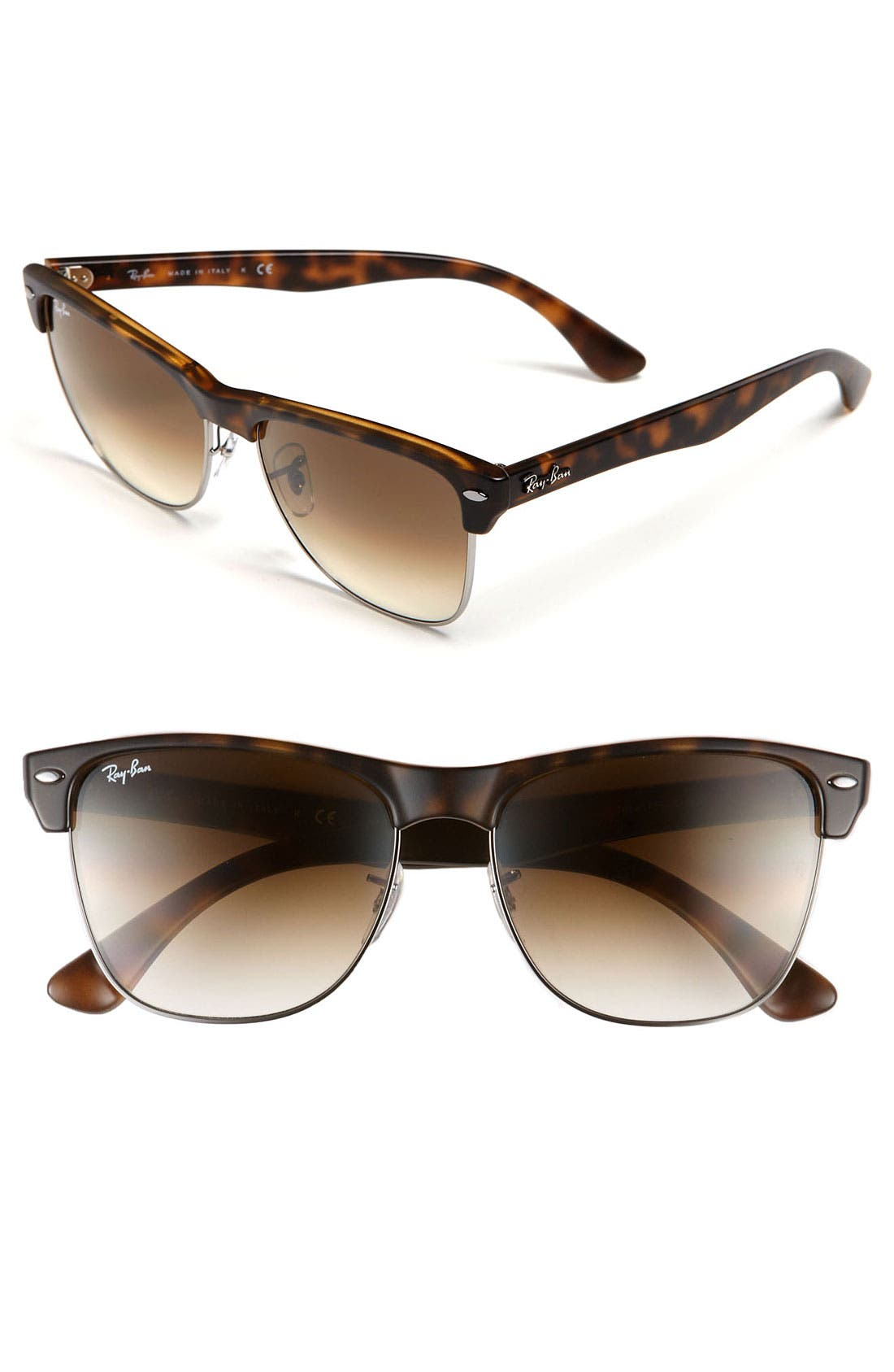 Highstreet 57mm Sunglasses,                             Main thumbnail 1, color,                             Demi Havana/ Brown Gradient