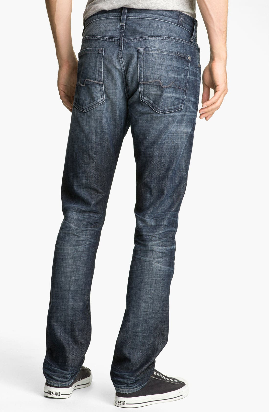 Main Image - 7 For All Mankind® 'The Straight' Slim Straight Leg Jeans (Crater Lake)