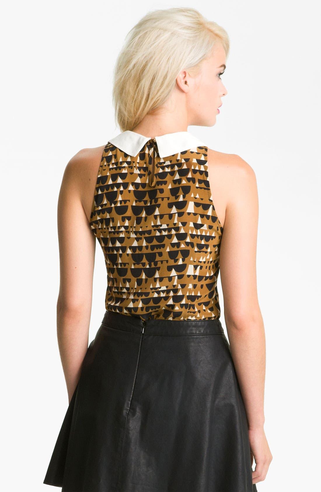 Alternate Image 2  - Line & Dot Sleeveless Silk Blouse