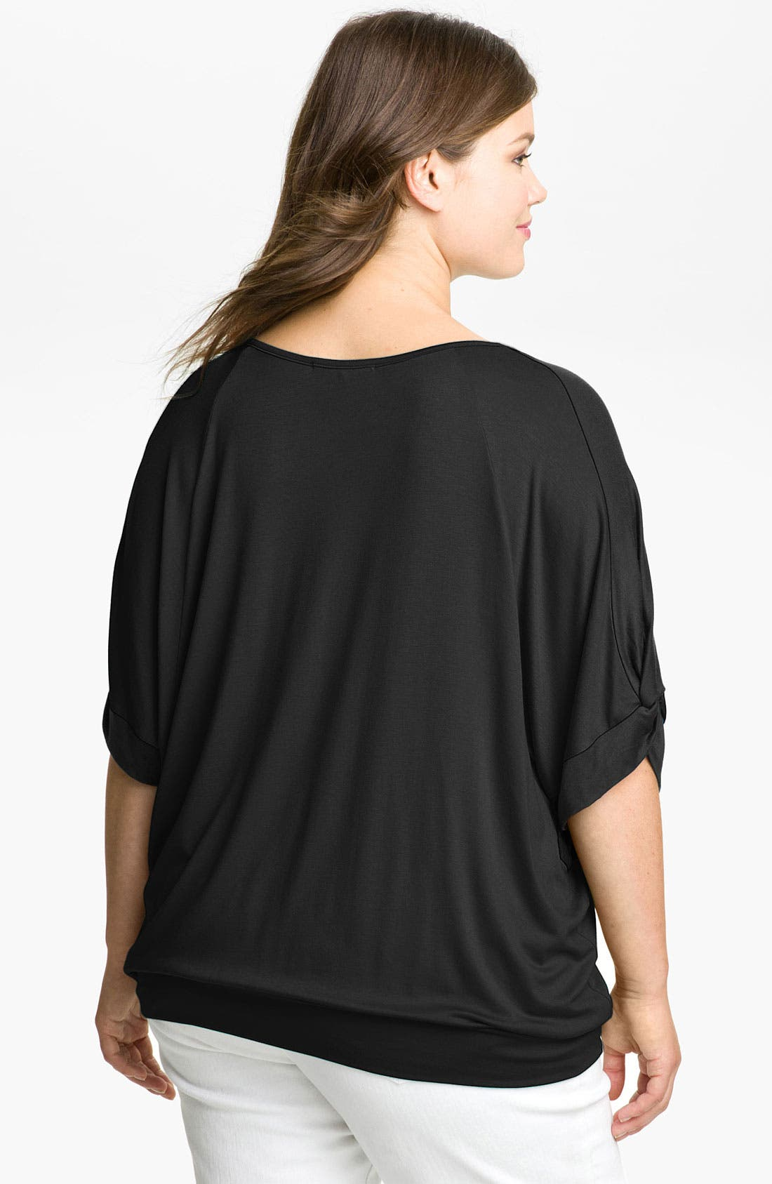 Alternate Image 2  - Pleione Colorblock Blouson Top (Plus Size)