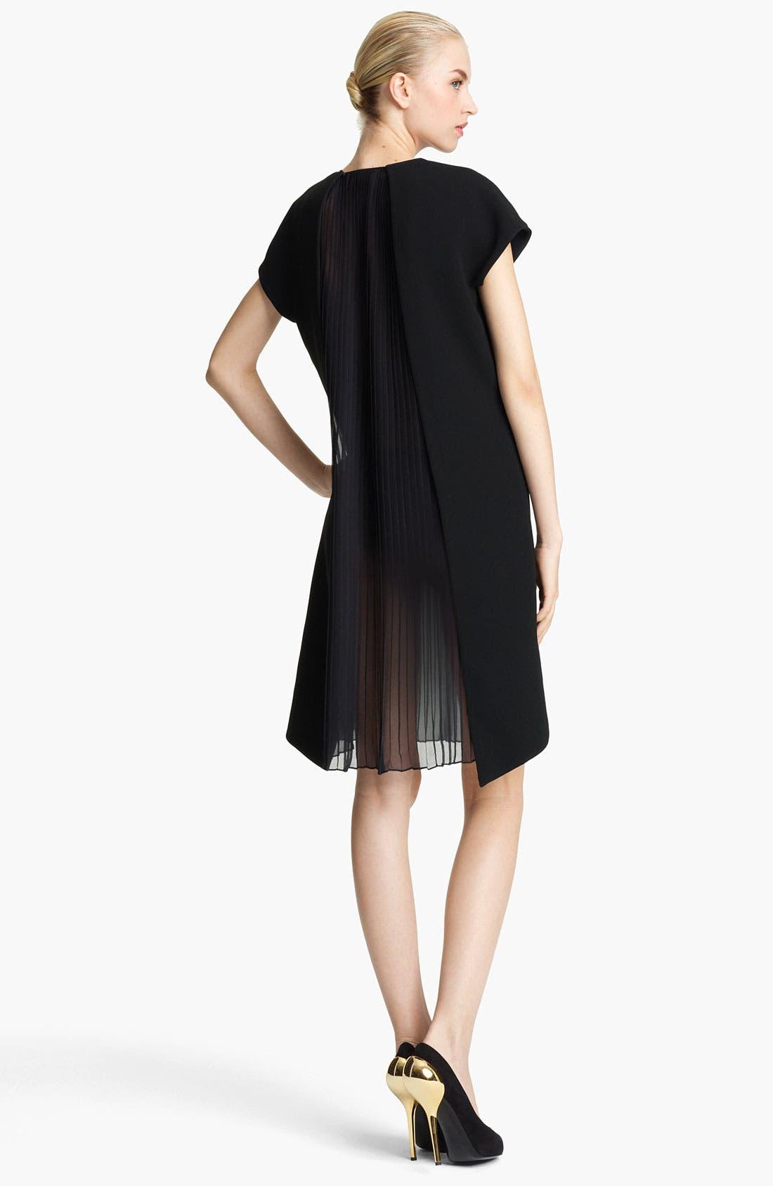 Alternate Image 2  - Vionnet Plisse Panel Techno Cady Dress
