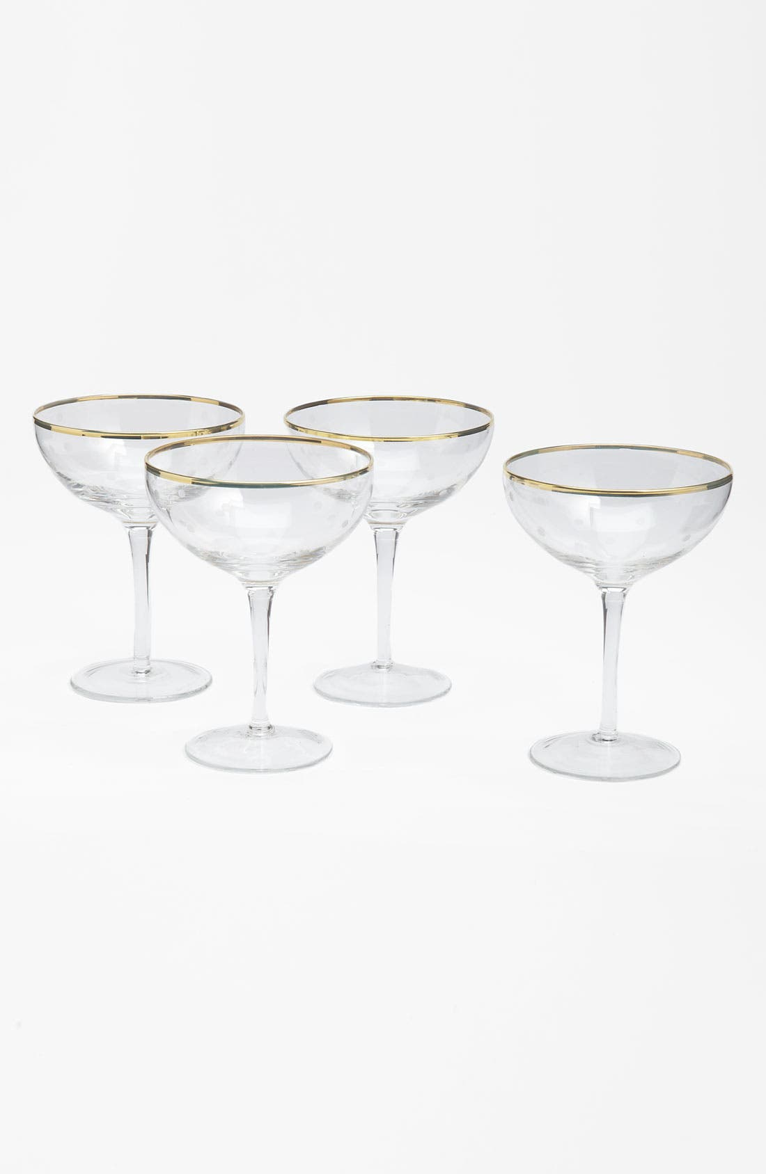 'larabee dot fête - mini' champagne saucer,                         Main,                         color, No Color