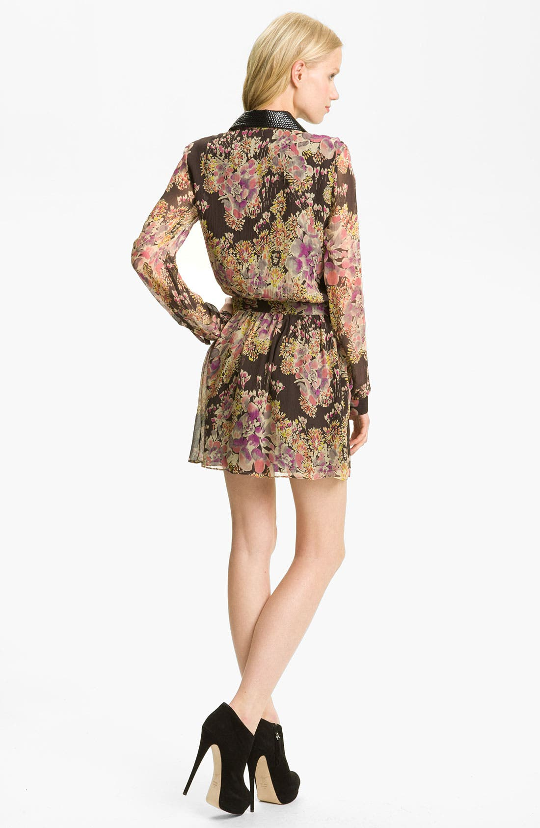 Alternate Image 2  - Gryphon Floral Print Silk Chiffon Shirtdress