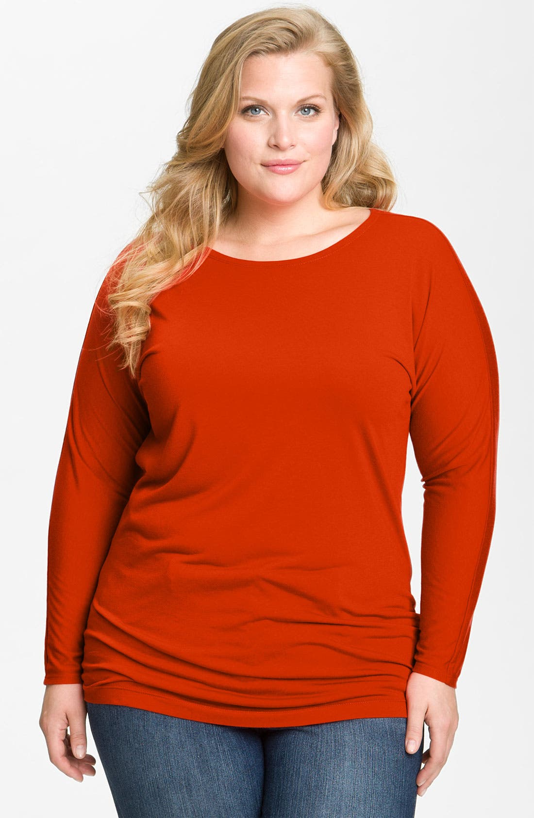 Main Image - Nic + Zoe Long Sleeve Tunic Tee (Plus)