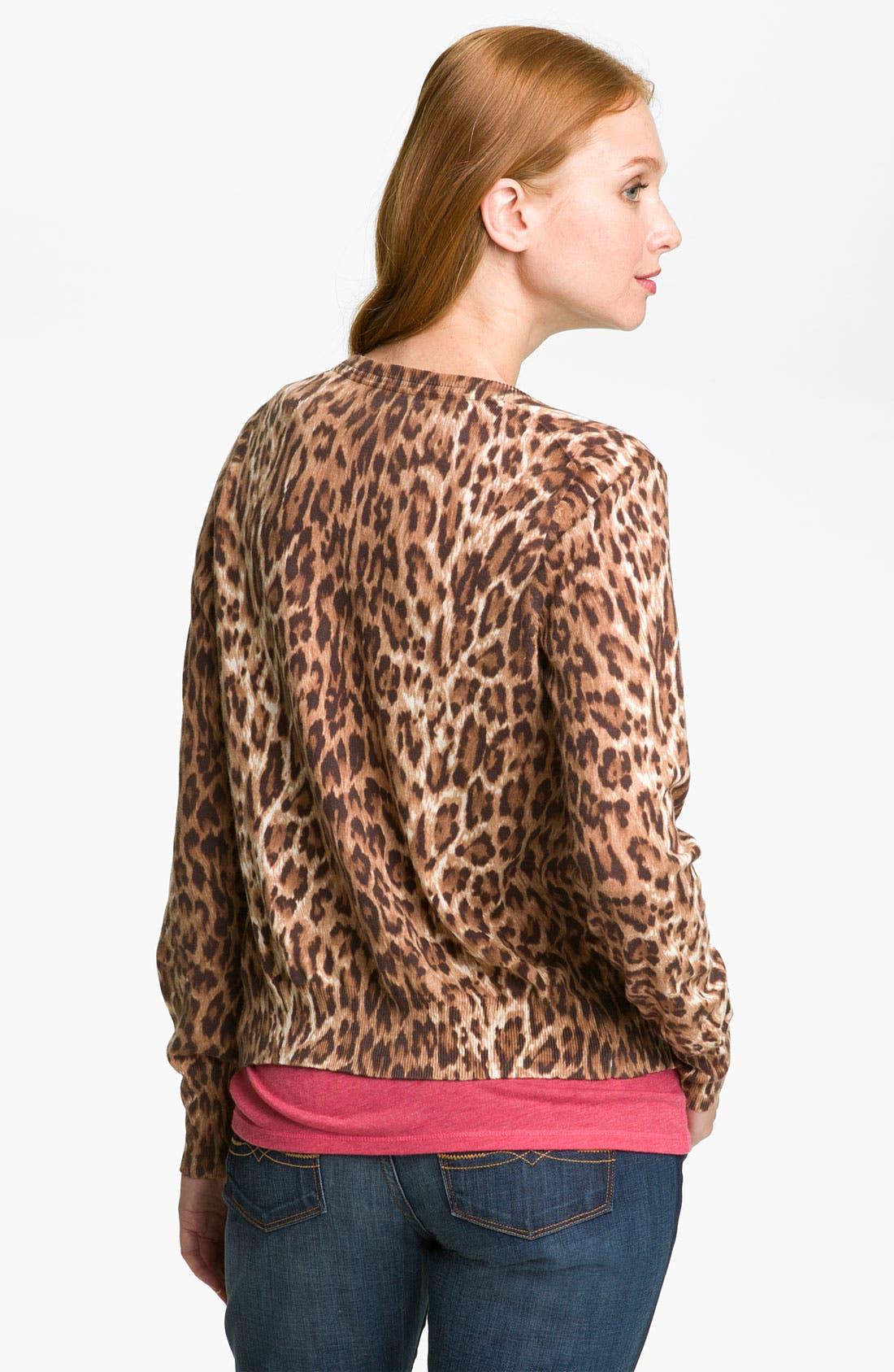Alternate Image 2  - Lucky Brand Cheetah Print Cardigan