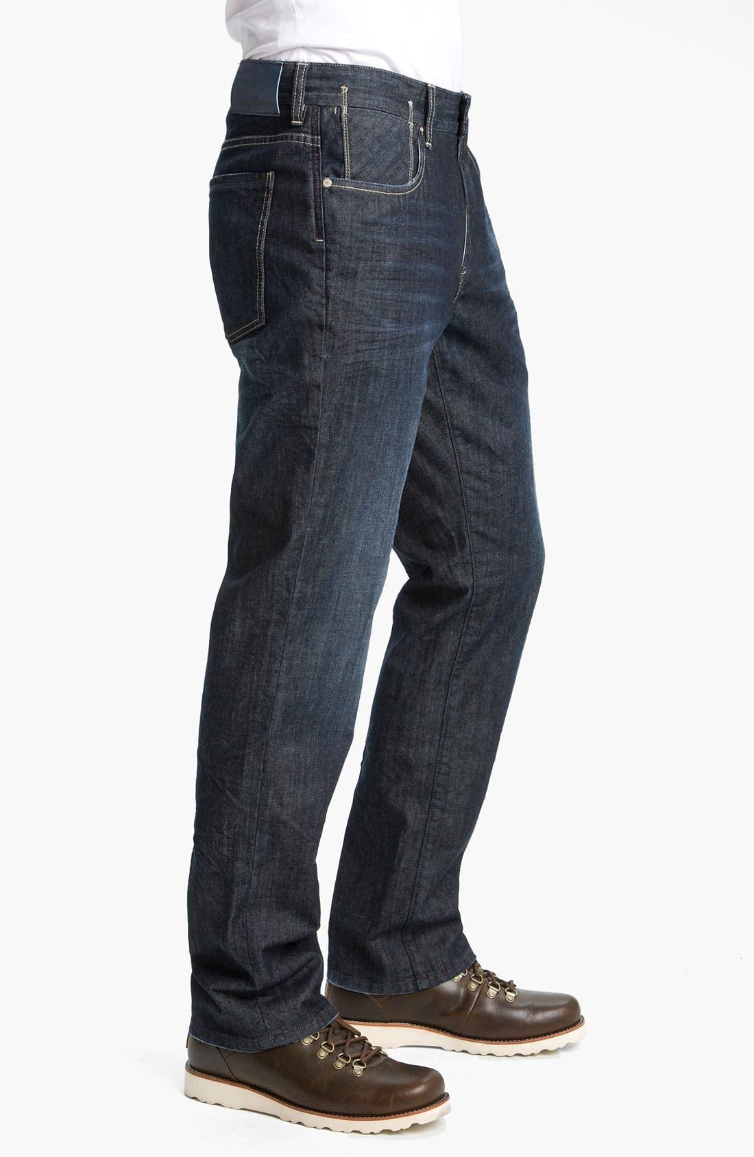 Alternate Image 3  - Tommy Bahama Denim 'Antonio' Authentic Straight Leg Jeans (Crinkle Dark)