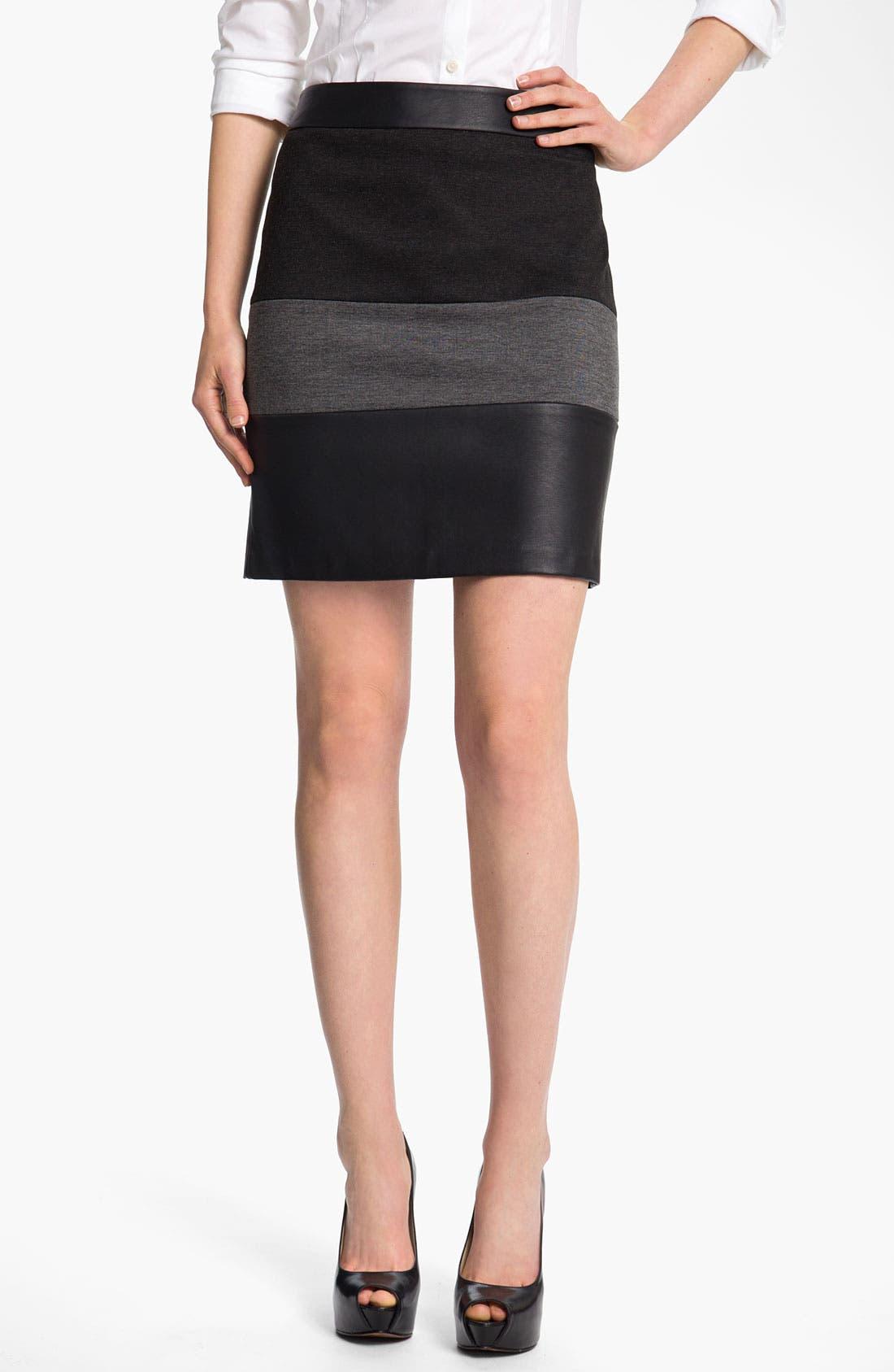 Alternate Image 1 Selected - Halogen® Mixed Media Skirt