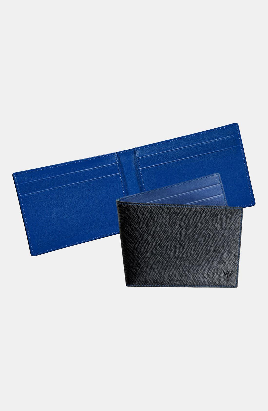 RFID Blocker Wallet,                         Main,                         color, Black/ Blue