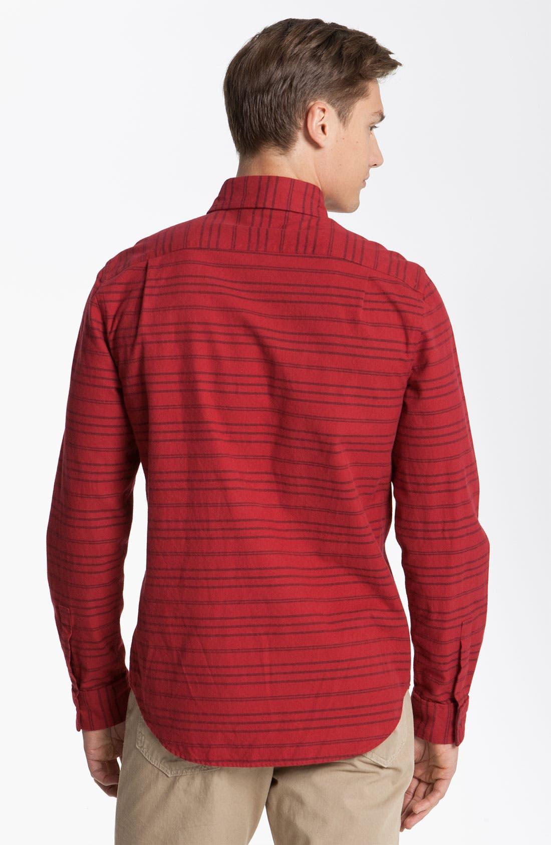 Alternate Image 2  - Steven Alan 'Collegiate' Stripe Woven Shirt