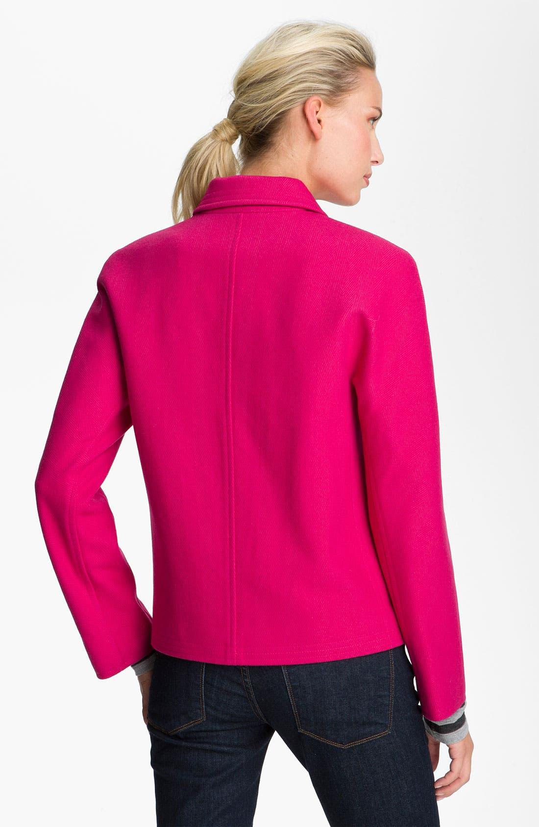 Alternate Image 2  - DKNY Single Breasted Short Coat