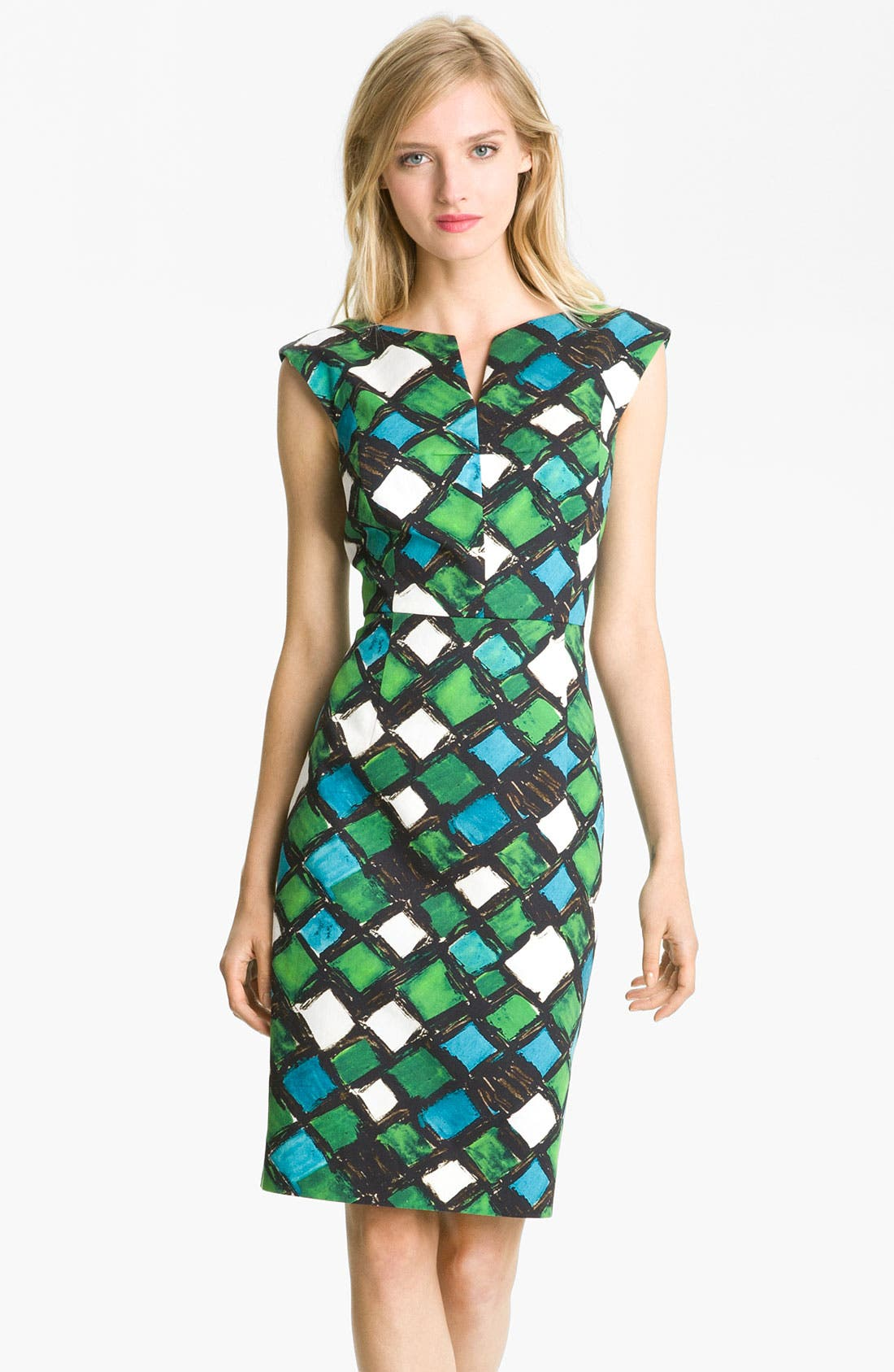Main Image - Milly 'Peggy' Cotton Sheath Dress