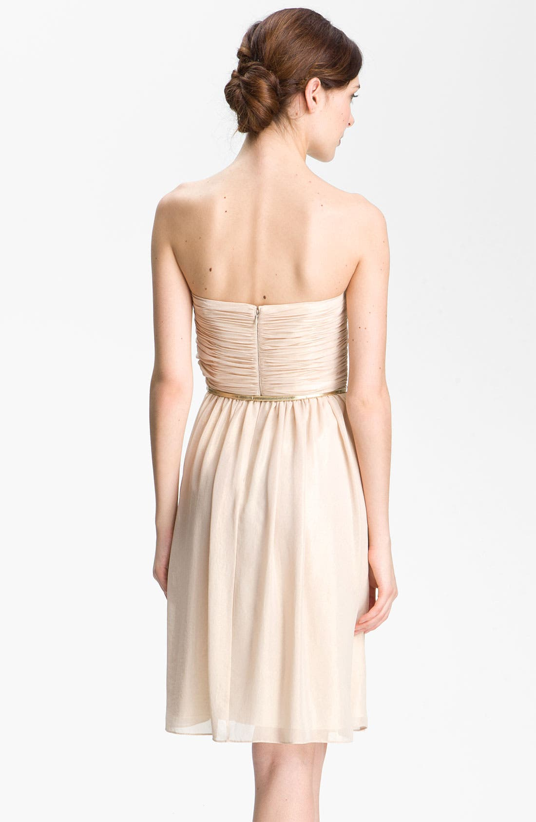 Alternate Image 2  - Donna Morgan Strapless Shimmer Chiffon Dress