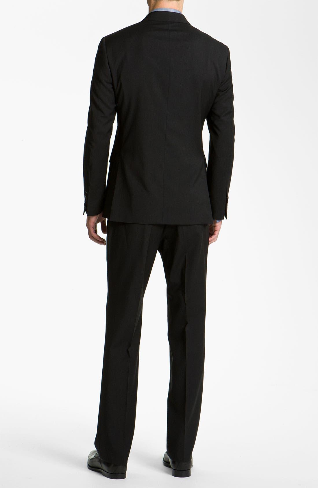 Alternate Image 3  - Burberry Trim Fit Wool Suit