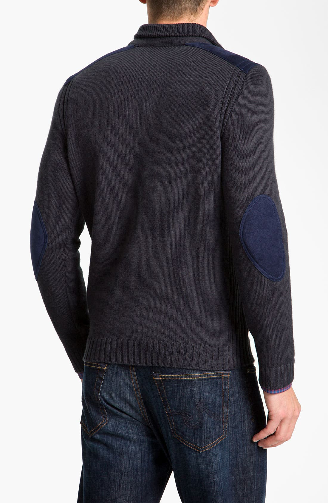 Alternate Image 2  - BOSS Black Quarter Zip Regular Fit Sweater