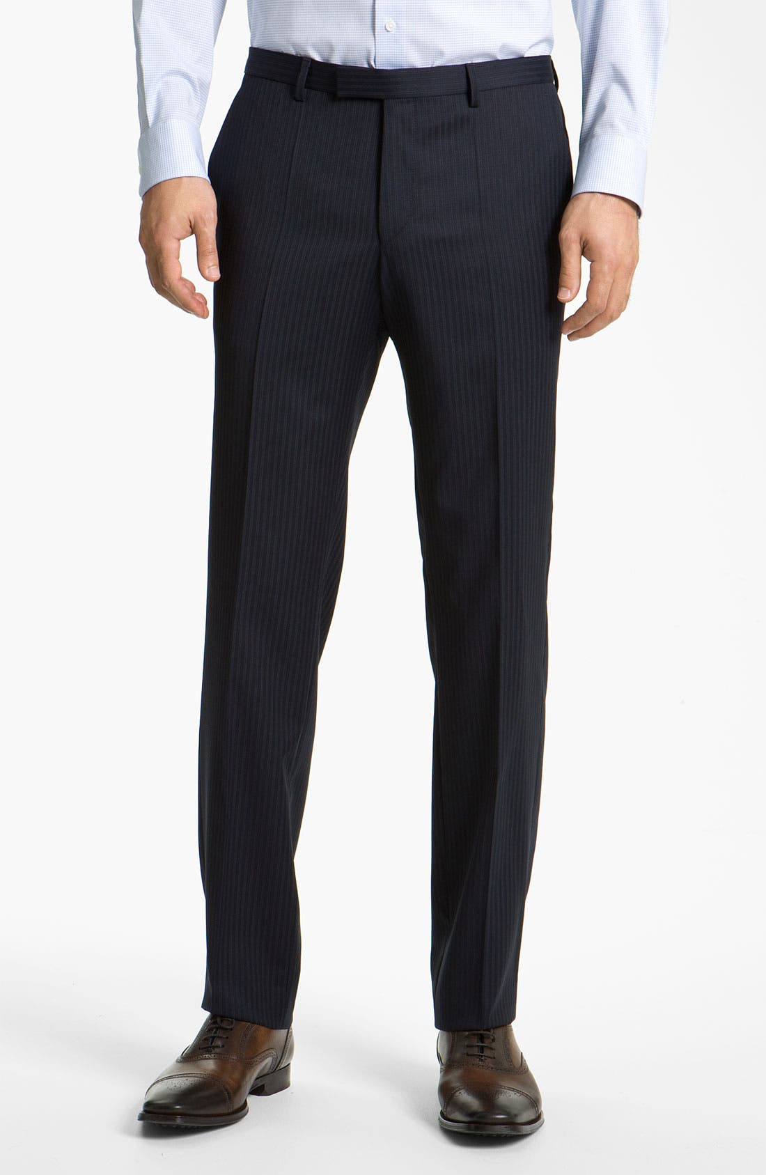 Alternate Image 4  - BOSS Black 'James/Sharp' Trim Fit Stripe Suit