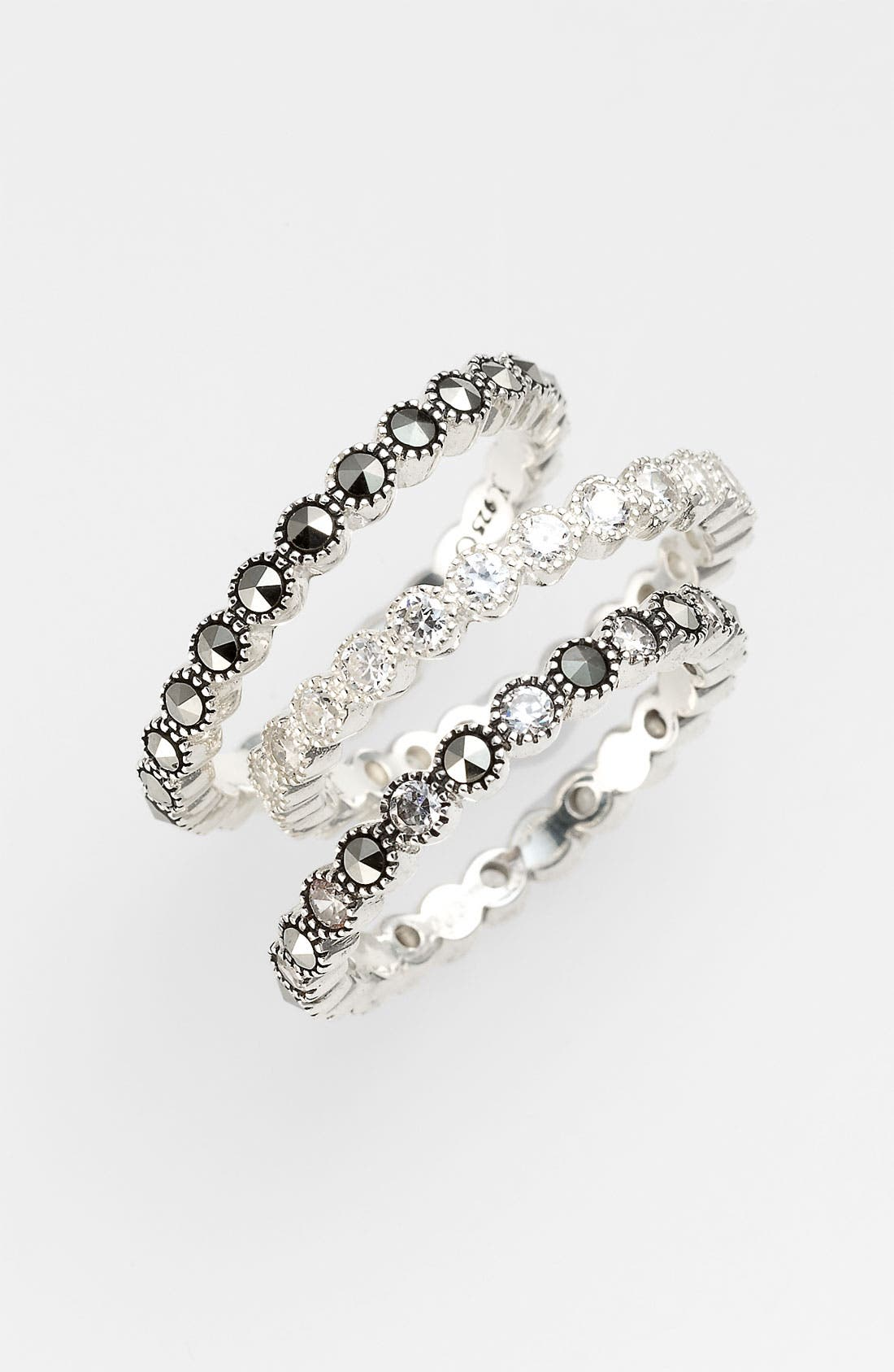 Alternate Image 1 Selected - Judith Jack 'Starlight' Stackable Rings (Set of 3)