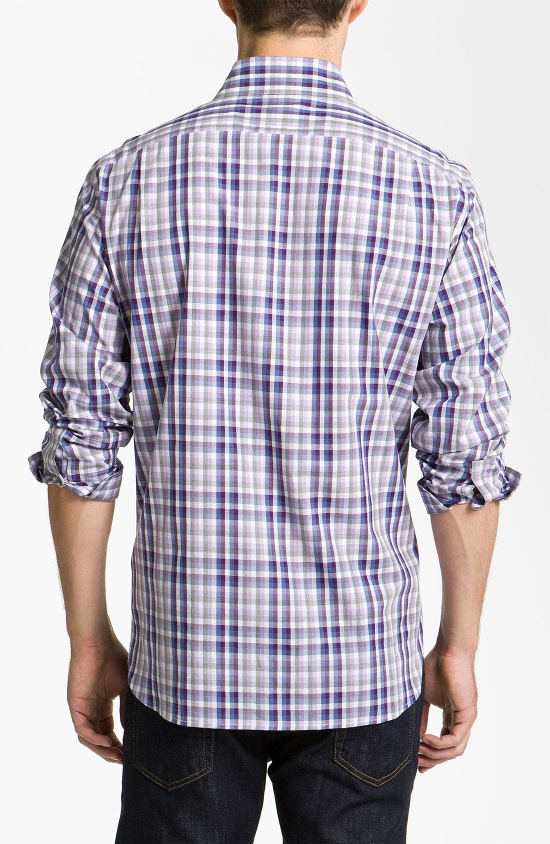 Alternate Image 2  - Michael Kors 'Rhodes' Check Woven Shirt