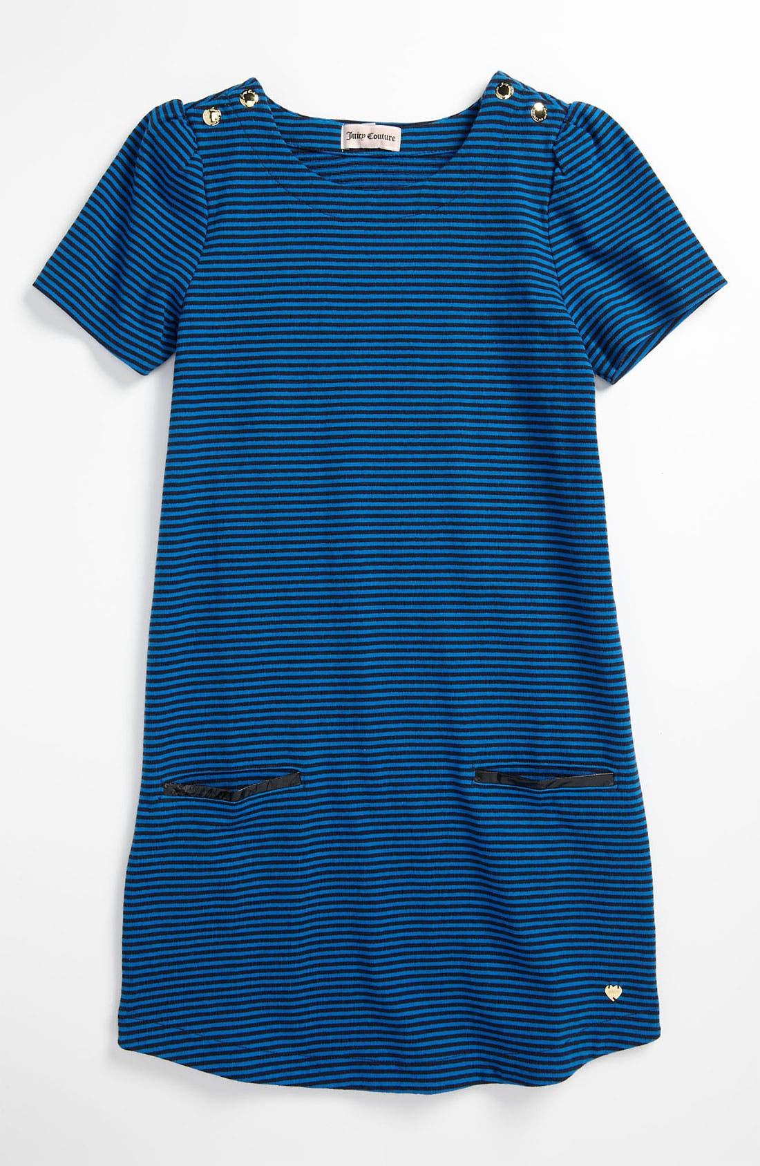 Main Image - Juicy Couture Stripe Jersey Dress (Little Girls & Big Girls)