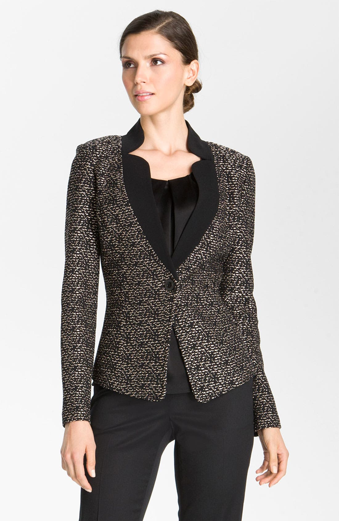 Alternate Image 2  - St. John Collection Fitted Tweed Jacket