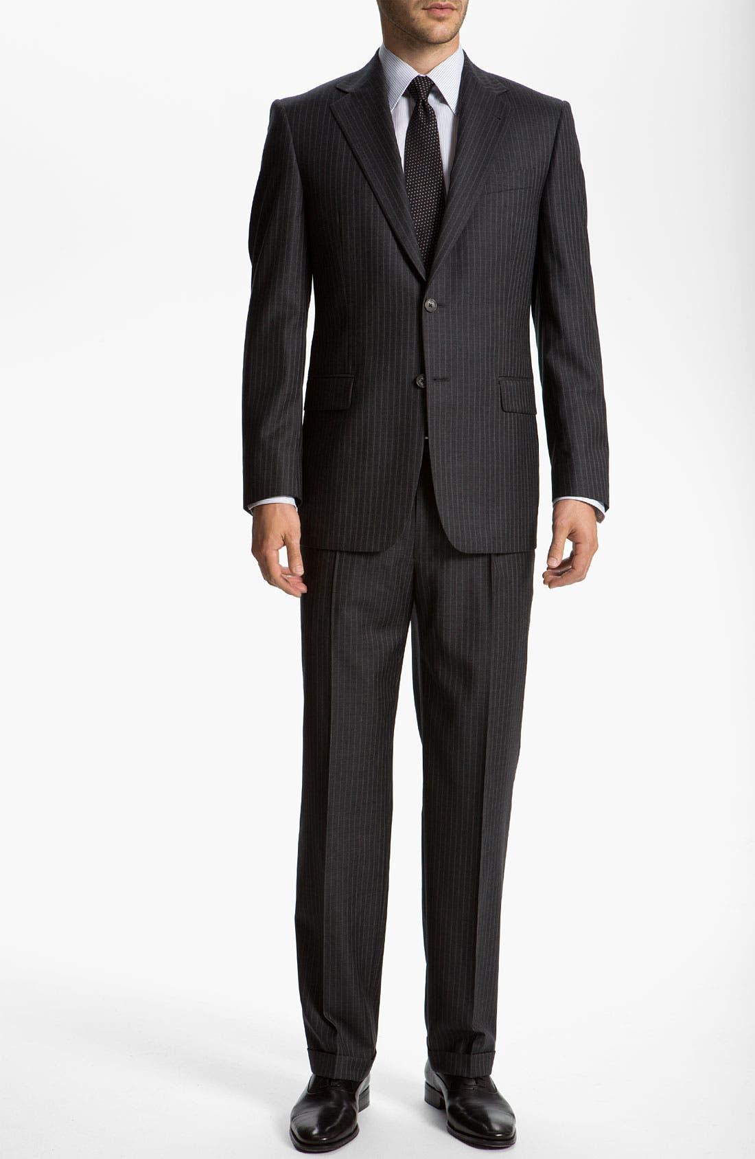 Alternate Image 2  - Joseph Abboud 'Signature Silver' Stripe Suit